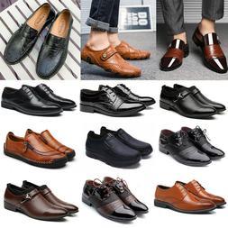 Formal Shoes Men Leather Brogue Oxfords Business Dress Fashi