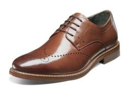 Stacy Adams Men's Garrison Wingtip Oxford,Cognac,10.5 M US
