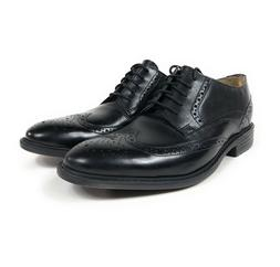 Bostonian Garvan Edge Mens Oxford Wingtip Black Leather Dres