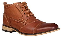 Kunsto Men's Genuine Leather Oxfords Dress Ankle Boots with
