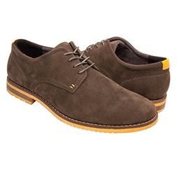 GlobalWin - 6 Mens Casual Oxford Shoes 9.5M, Olive