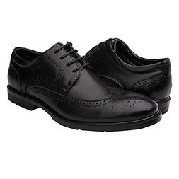 Globalwin Men's Black Modern Lace Up Oxford Dress Shoes 11M