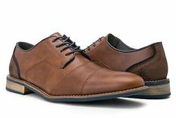 Globalwin Men's Modern Oxford Wingtip Lace Dress Shoes Brown