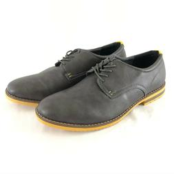 Globalwin Mens Casual Oxford Shoes Lace Up Faux Leather Dark