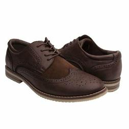 GlobalWin Mens Dark Brown Oxford Shoes 9.5M, Dark Brown