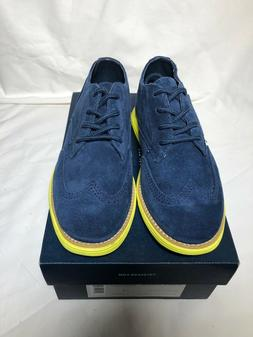 COLE HAAN GRAN OXFORD NAVY / WASABI GREEN SOLE, BOYS SHOES S