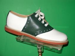 GREEN/ white Classic Leather Saddle Shoes most women's sizes