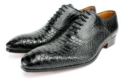 Ivan Troy George Black Crocodile Handmade Men Italian Leathe