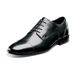 Florsheim JET CAP TOE 14120-001 Black Leather Oxford Lace Up