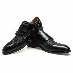 JITAI Men's Oxford Shoes, Leather Dress Shoes Lace-up Wingti
