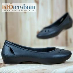 Crocs Kelli Flat Slip On Casual Oxford Comfort Shoes Womens