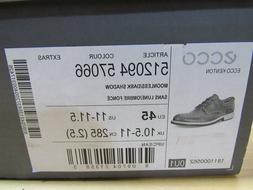 ECCO Kenton Plain Toe Moonless Dark Shadow Derby Oxford Shoe