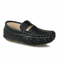 Hawkwell Kids Loafer Moccasin Oxford Driver Shoes(Toddler/Li