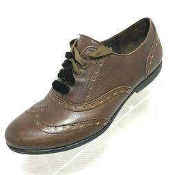 Born Kika Brown Oxfords Wingtip Women's Shoes Size 7 M NEW