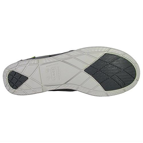 crocs Beach Line Slip-On Loafer,Smoke/Pearl White,10 M