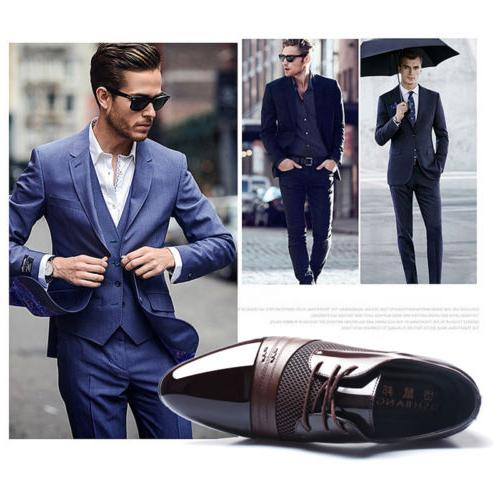 2018 Men Business Formal Oxfords Leather Shoes Flat Lace Up Casual Loafers