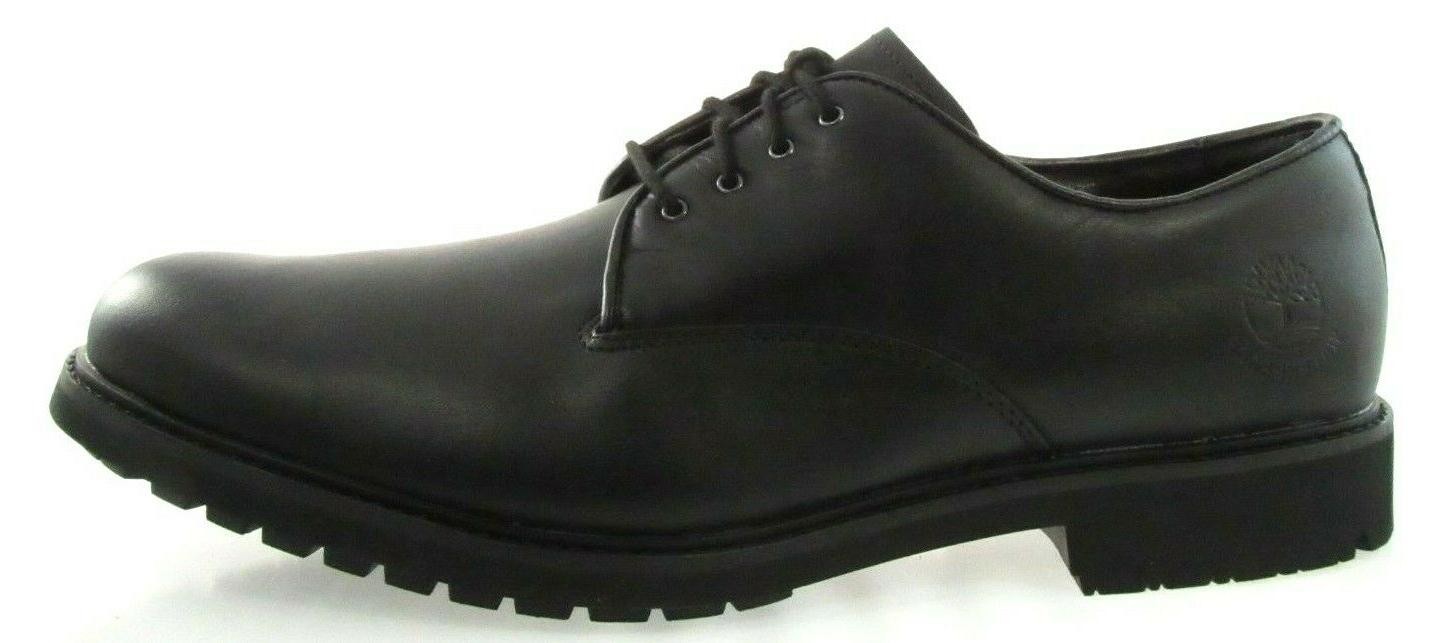 TIMBERLAND Stormbuck Plain Toe Oxford MEN'S BLACK WATERPROOF LEATHER SHOES