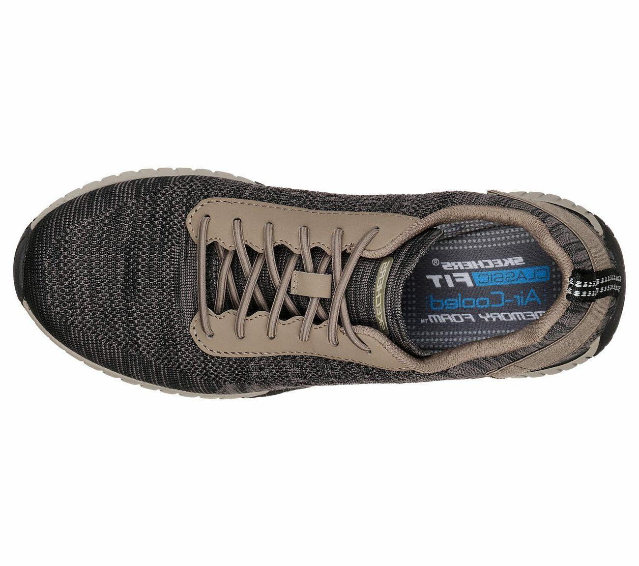 65182 Khaki shoe Men Comfort Knit Mesh Fabric