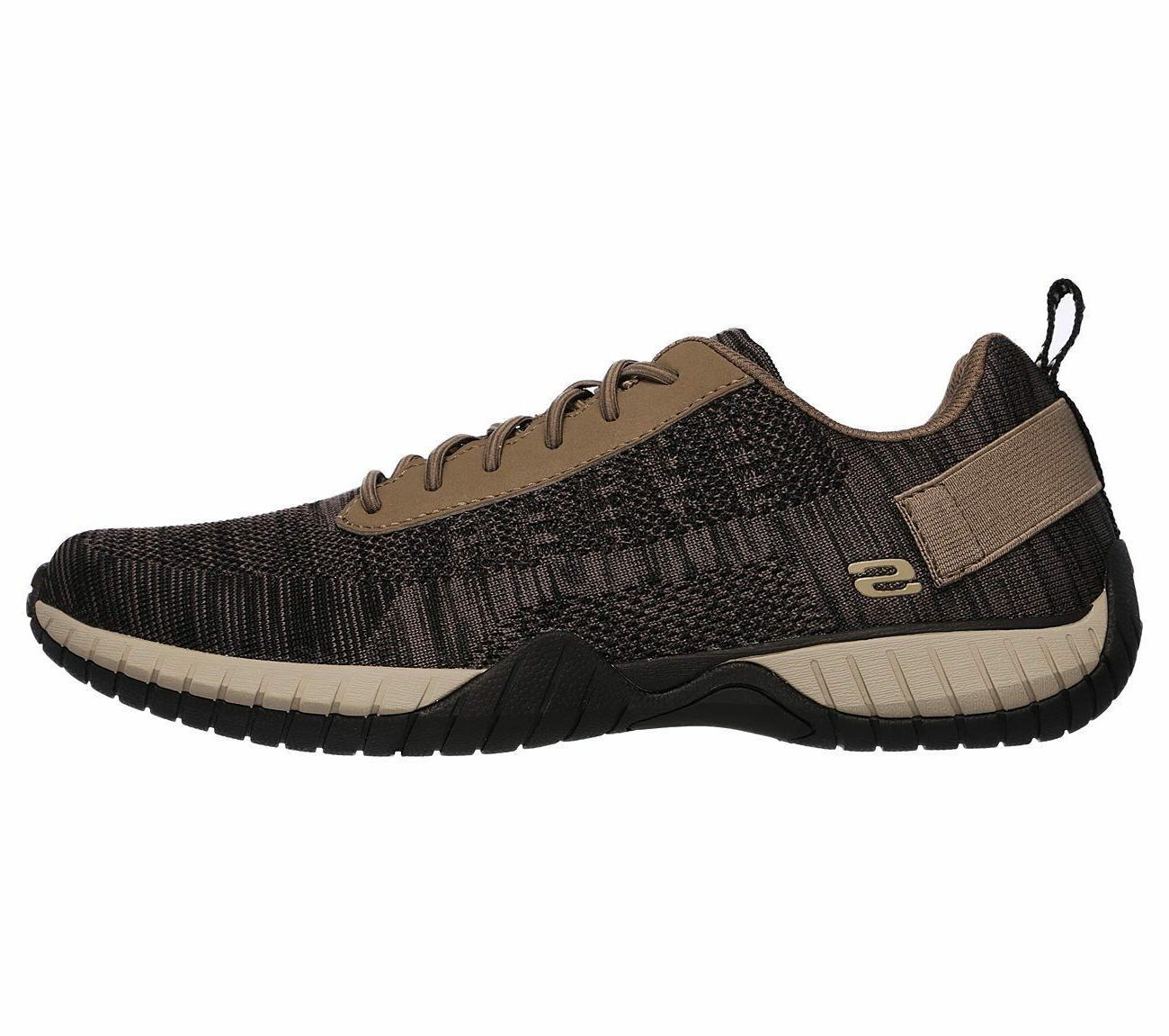 65182 Khaki Skechers shoe Men Comfort Oxford Mesh Fabric