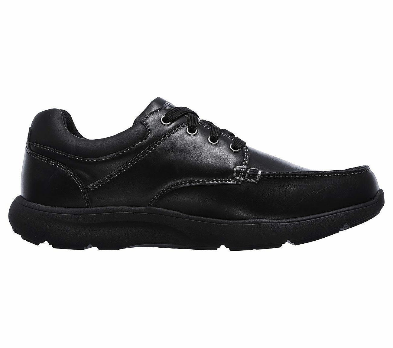 65325 Black Skechers Men Foam Comfort Dress Oxford
