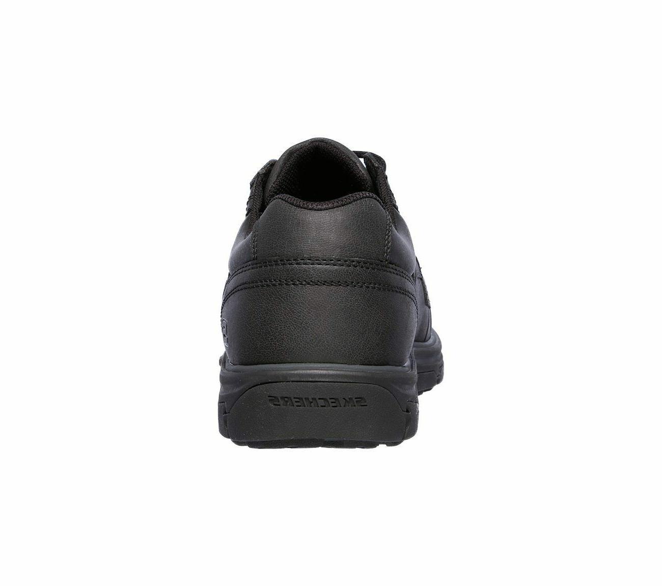 65567 Black shoes Men Memory Foam Comfort Casual Oxford