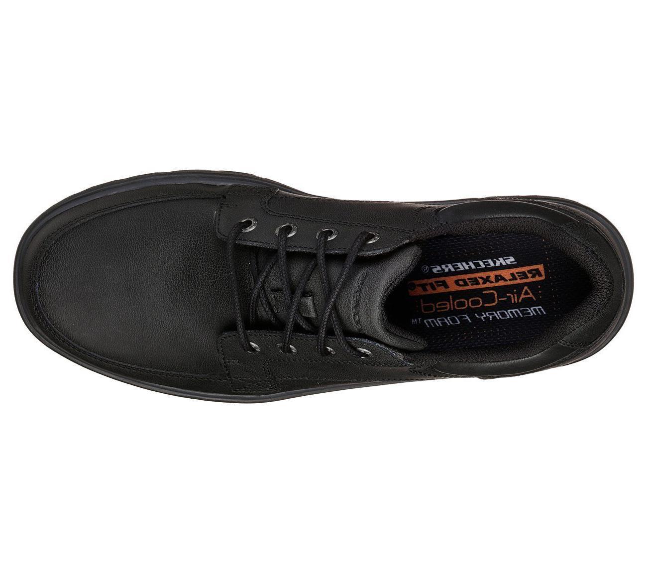 65567 Black shoes Men Memory Foam Oxford