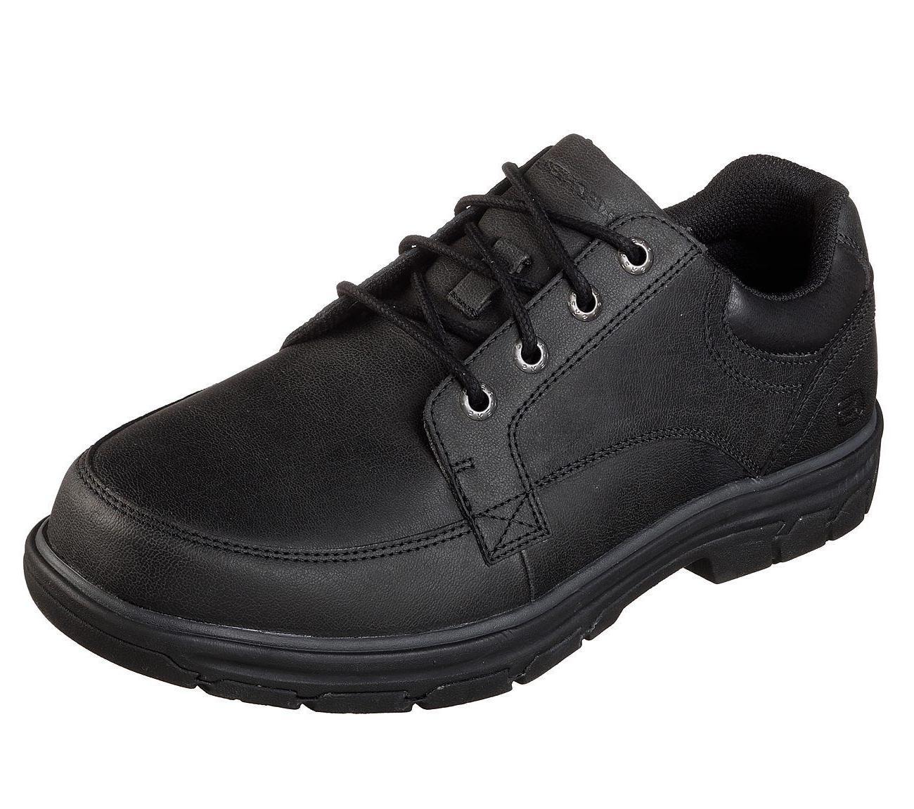 65567 black shoes men memory foam comfort