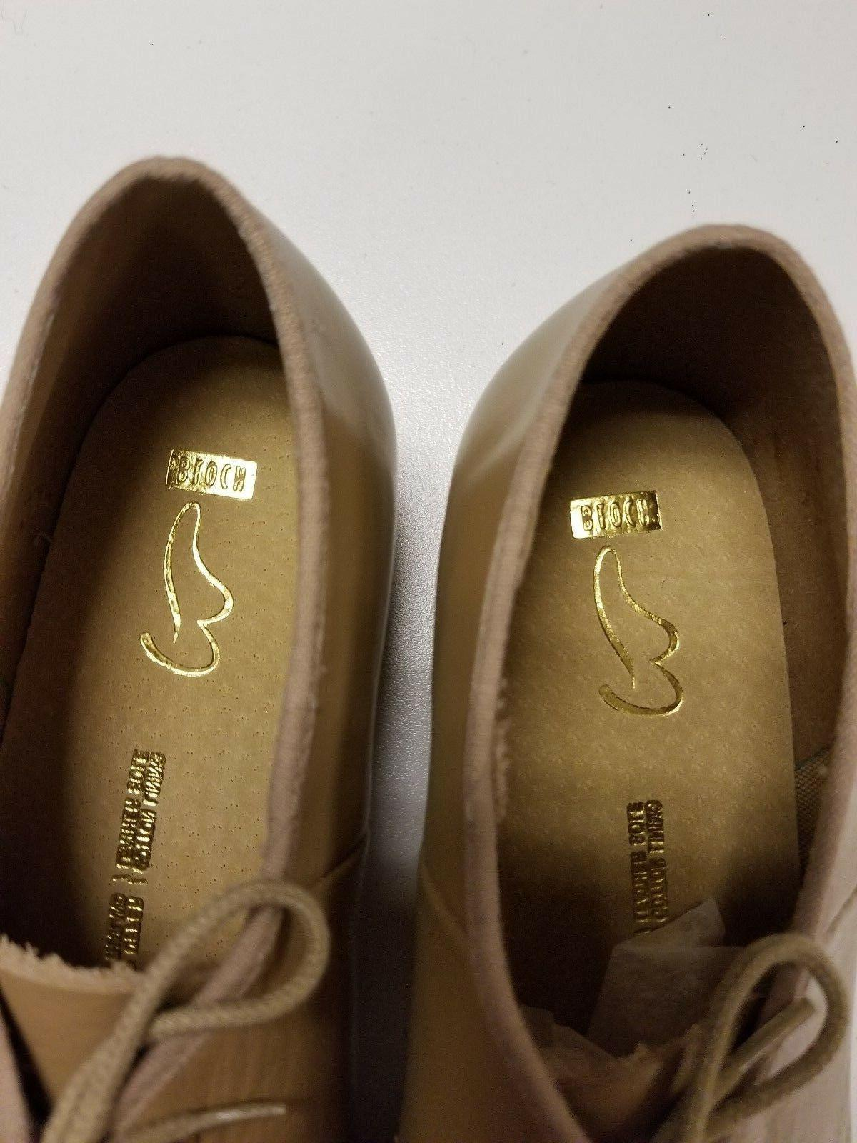 Bloch Oxford Shoes, Tan or 9.5, SO301 Taps, 091241