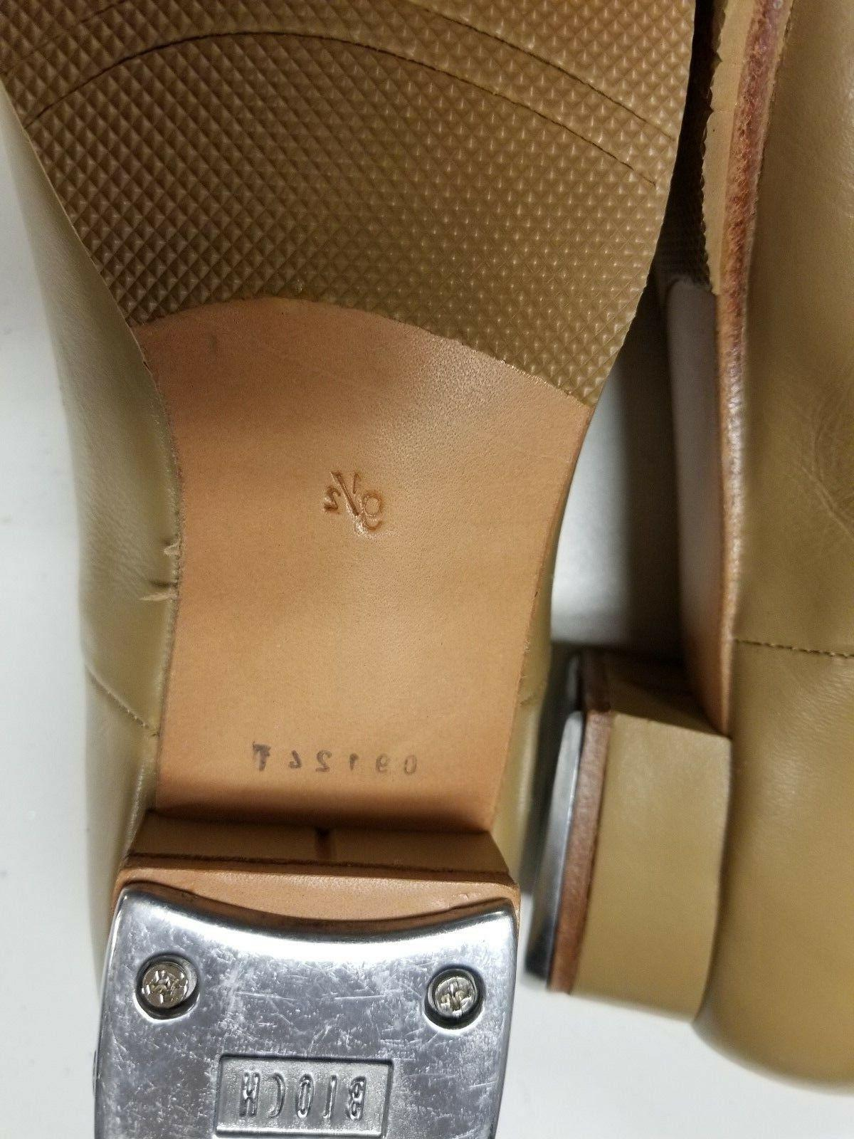 Bloch Adult Tap Shoes, Tan or 9.5, SO301 Taps, 091241