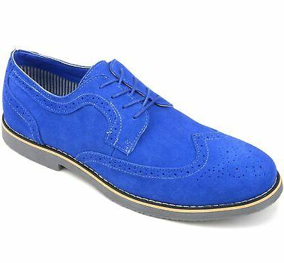 Alpine Beau Dress Shoes Genuine Wingtip Up Oxfords