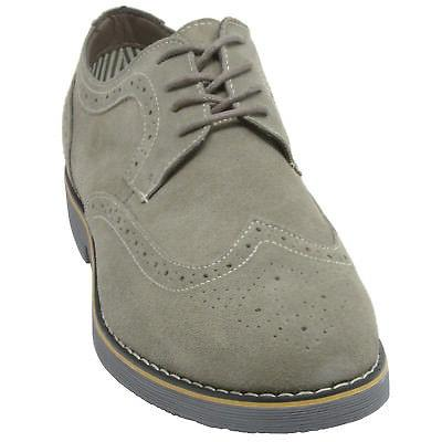 Alpine Dress Shoes Suede Wing Tip Brogue Up Oxfords