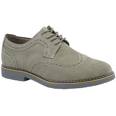 Alpine Swiss Beau Mens Dress Shoes Wing Tip Up Oxfords