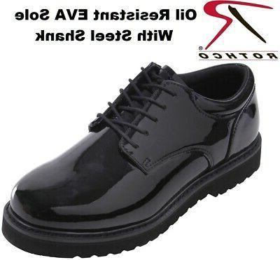 Black Uniform Poromeric Leather Work