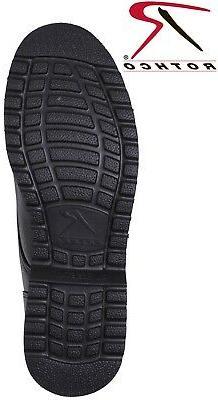 Black Oxford Poromeric Leather Work Shoe