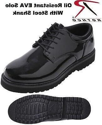 black oxford uniform shoes poromeric leather high