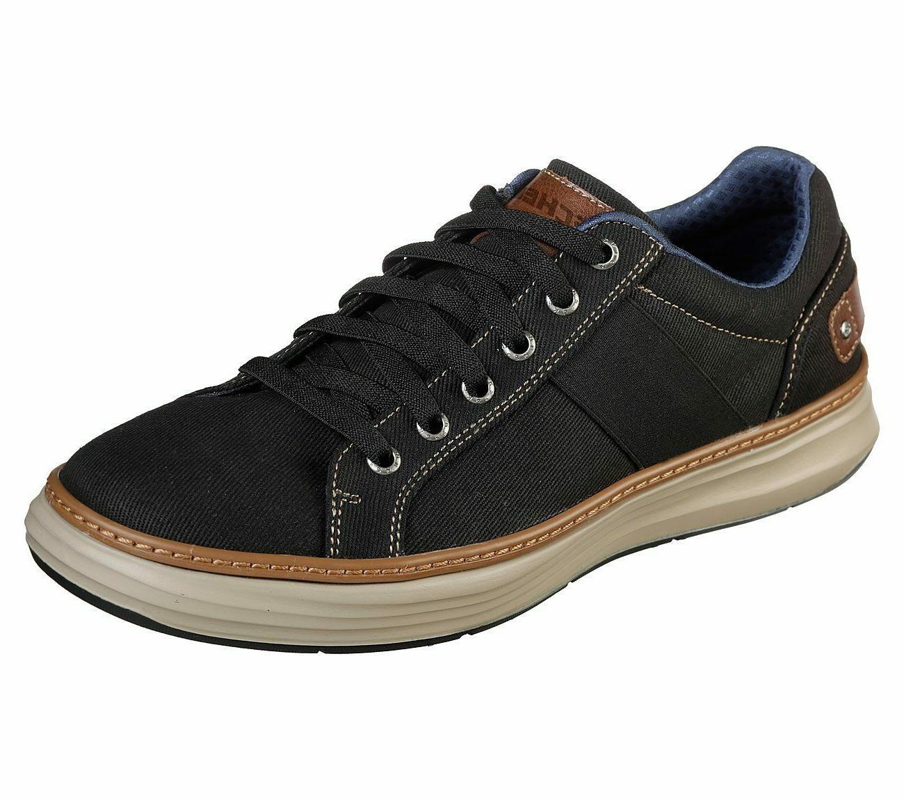 black shoe men memory foam comfort casual