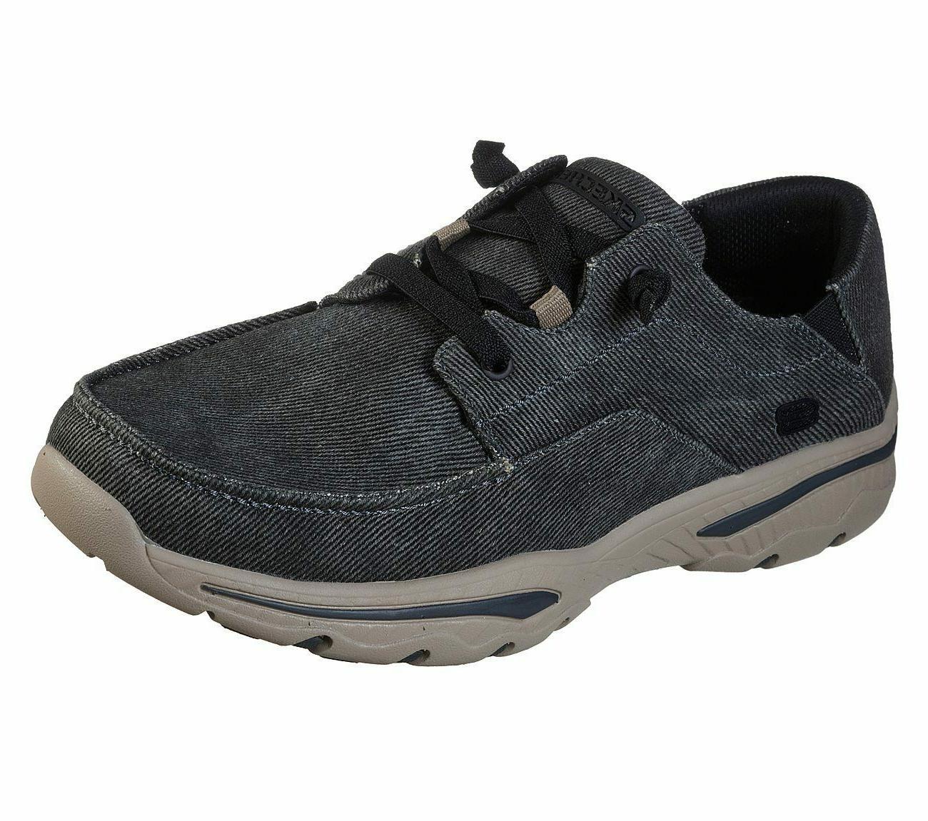 black shoes men canvas memory foam slip