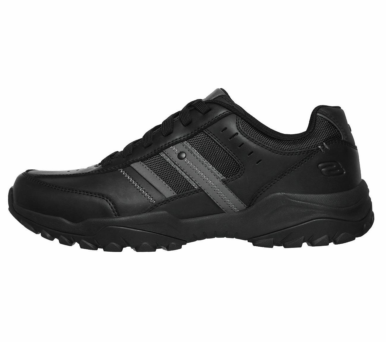 Skechers Black Memory Sporty Comfort Leather Oxford 66015