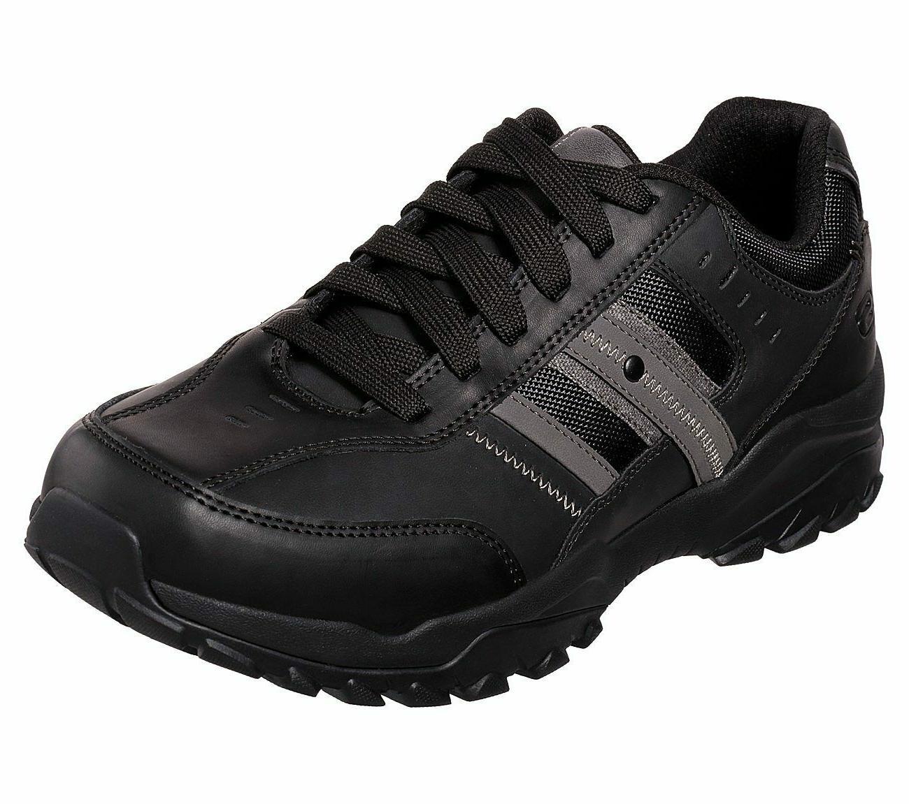 black shoes men memory foam sporty casual