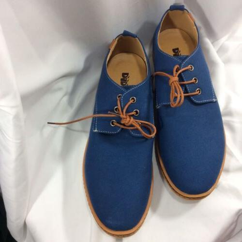 DADAWEN Blue Up Oxford Boat Shoes Casual EU 45