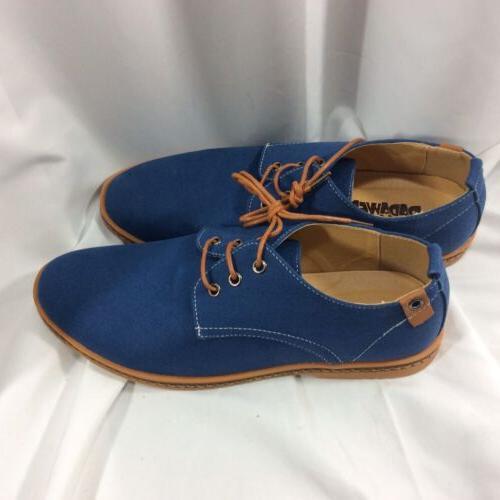 DADAWEN Blue Lace Up Casual Sneakers SZ EU