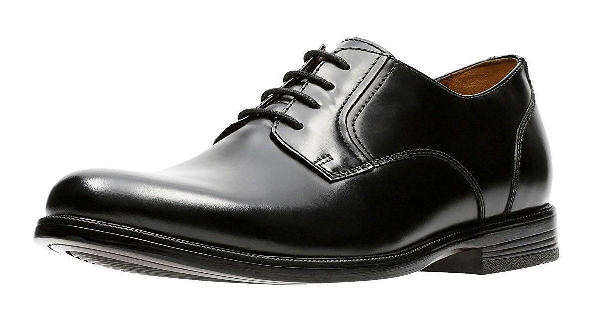Bostonian Men's Kinnon Plain Oxford Shoes Black Leather 2611