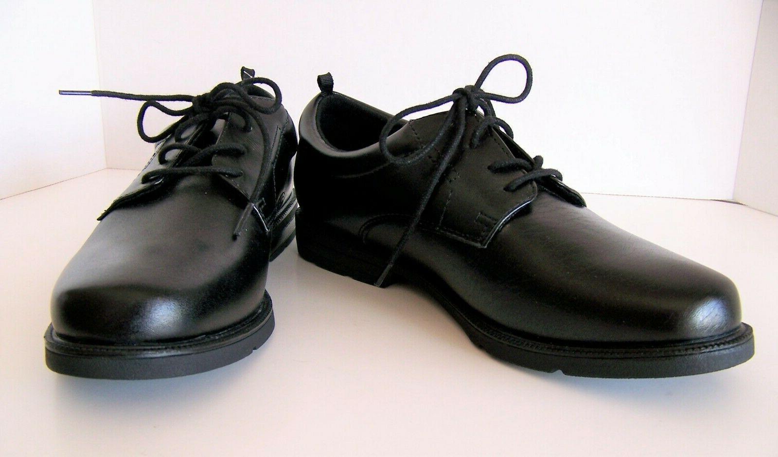 boys black lace up oxford dress shoes