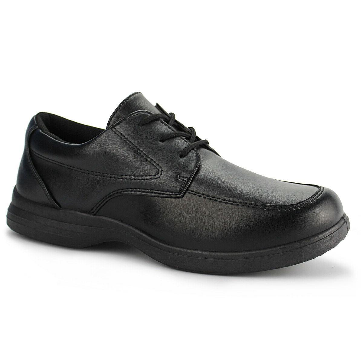 boys black school uniform shoes kids classic