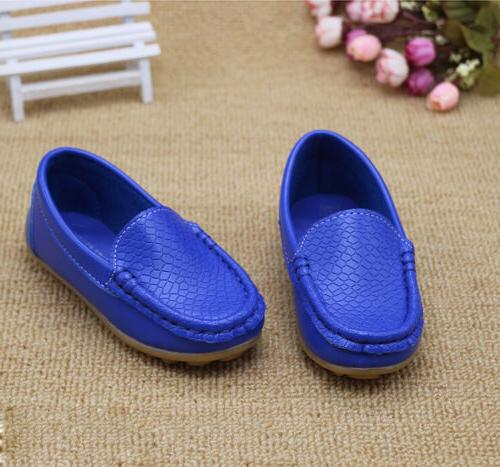 Boys Girls Flat Kids Baby On Loafers
