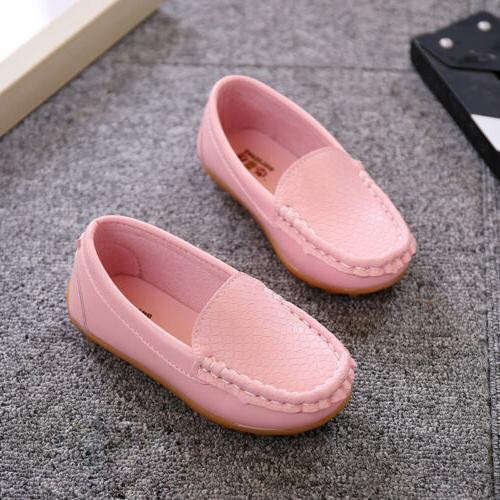 Boys Girls Boat Sneakers Flat Shoes Baby On