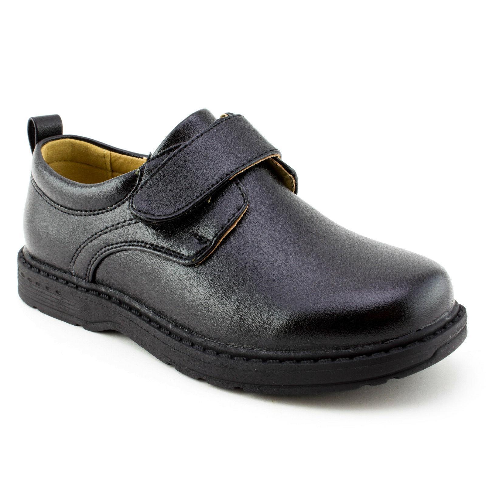 boys hook and loop oxford school uniform