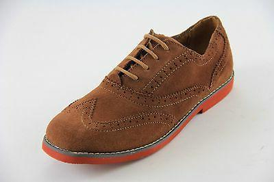 Florsheim Boys Mocha Suede Oxford Wing Tip  Shoes JR Style#1