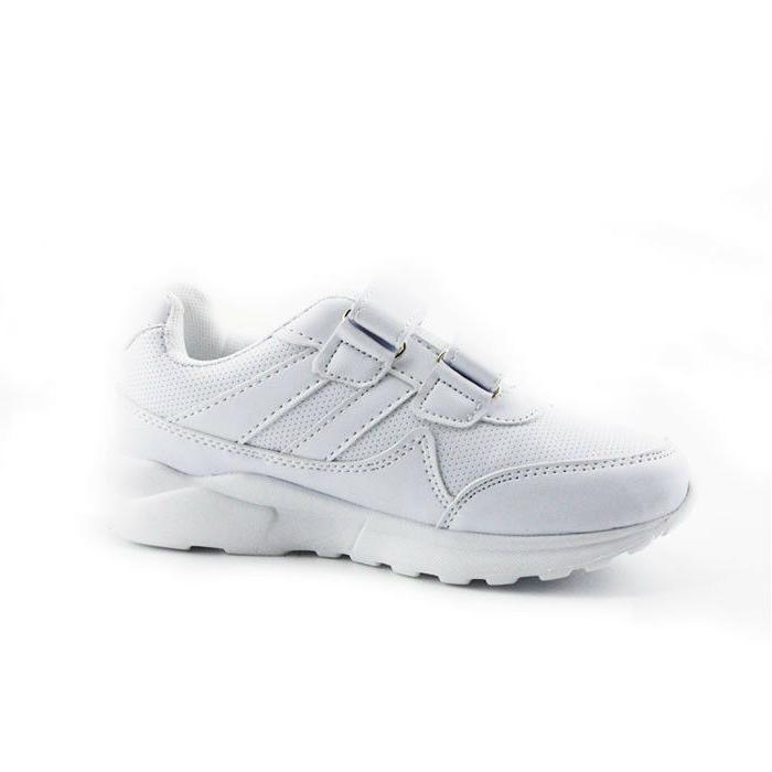 Hawkwell School Shoes White Black Uniform Kids Sneakers Students