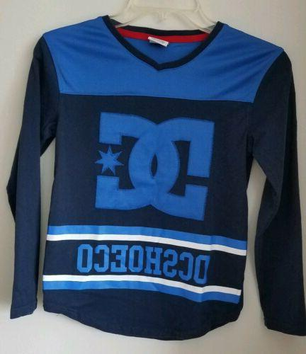 brand boys blue long sleeve logo tee